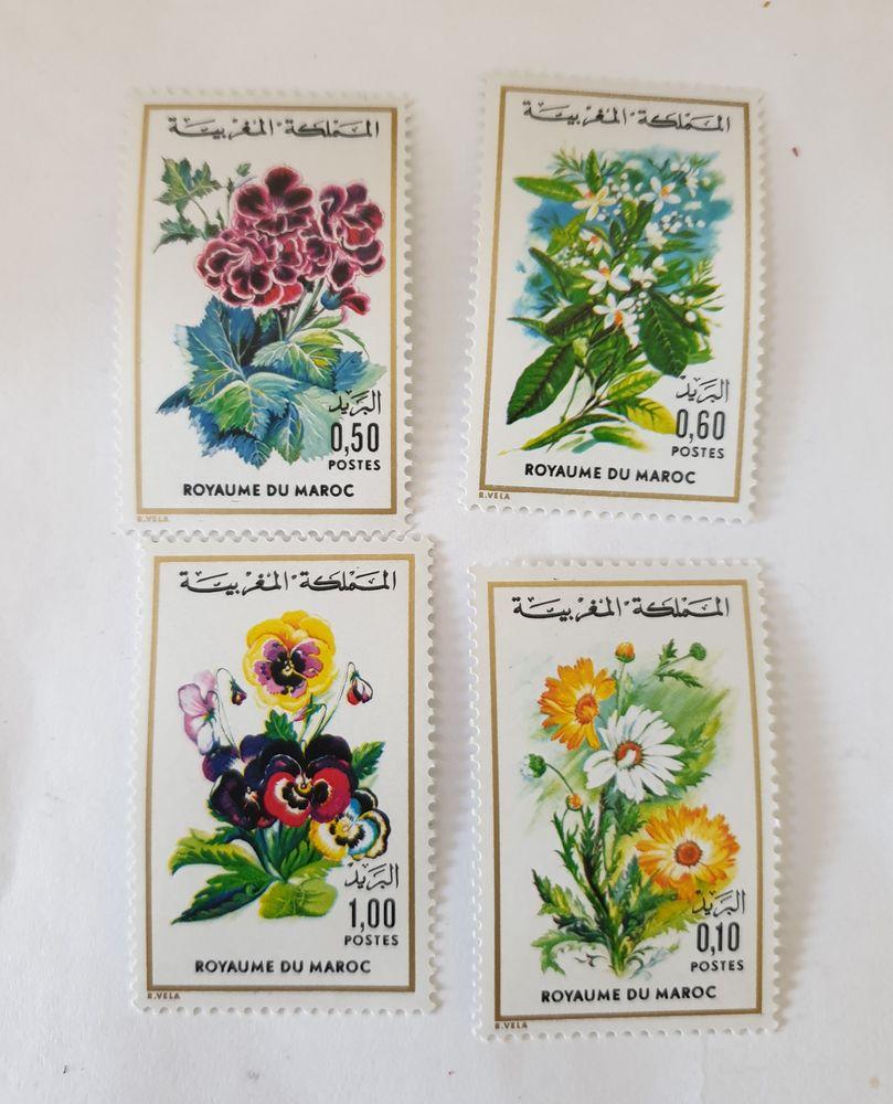 Timbres Maroc 1975 fleurs série  2 neuf  Marseille 9 eme le  2 Marseille 9 (13)