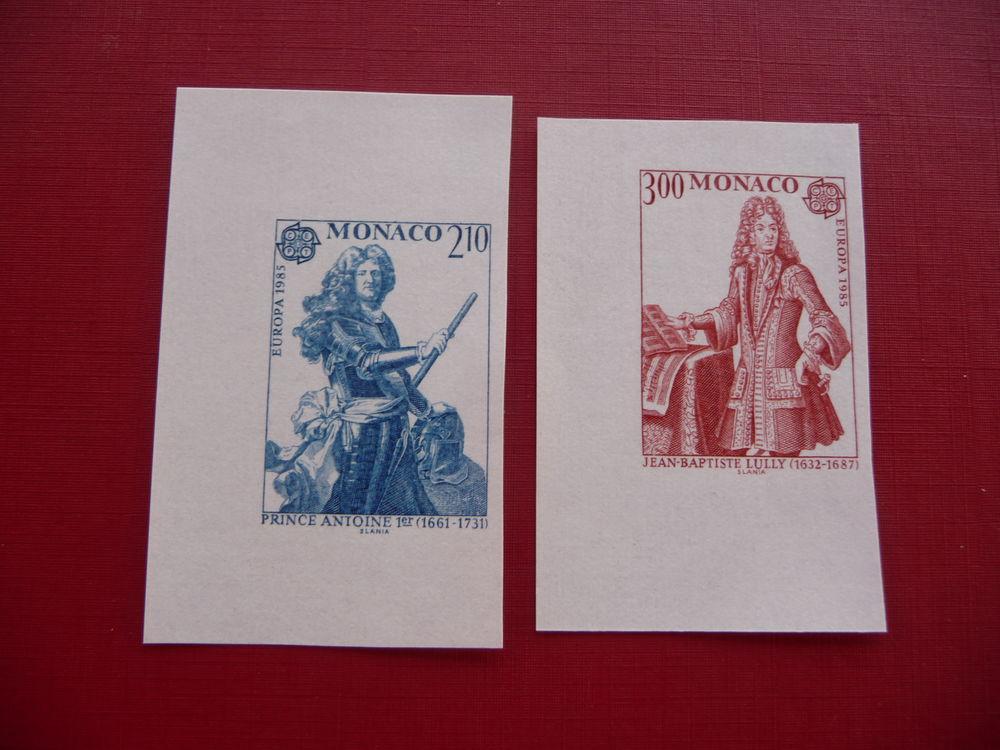 TIMBRES DE MONACO NON DENTELES n 1459 / 1460 NEUFS** 15 Fabrègues (34)