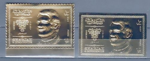 2 Timbres OR Neufs** - Jeux Olympiques Grenoble 1968 - Killy 9 Souvigny (03)