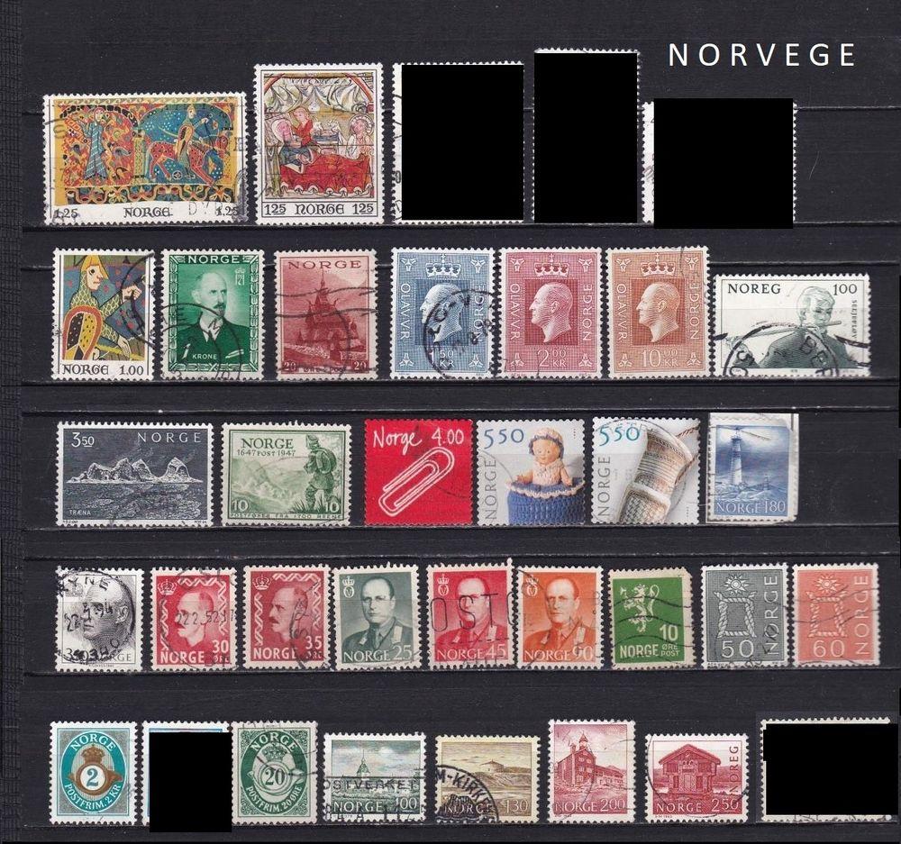 66 timbres de NORVEGE 3 Les Églisottes-et-Chalaures (33)