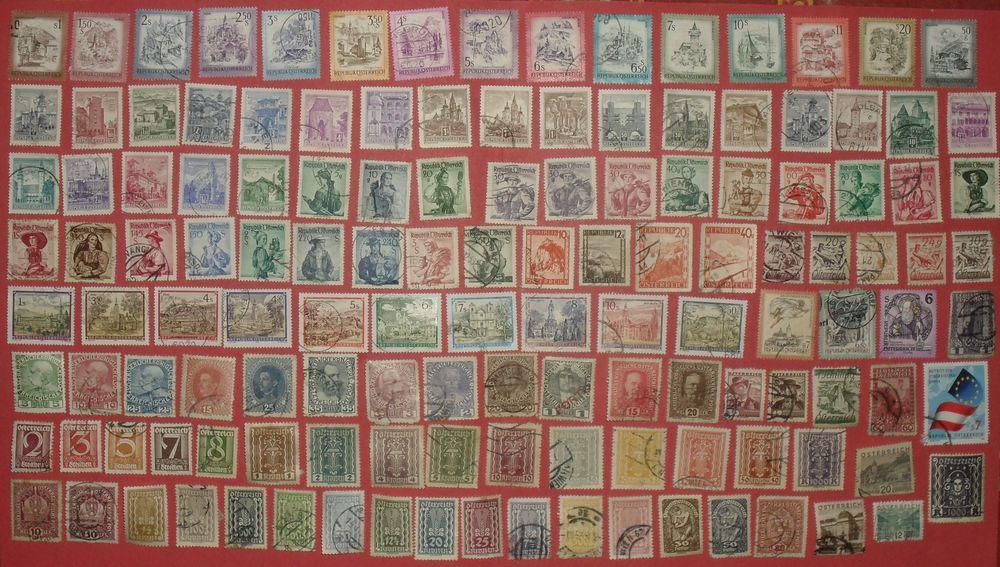 Lot de 133 timbres oblitérés d'Autriche. 17 Montreuil (93)