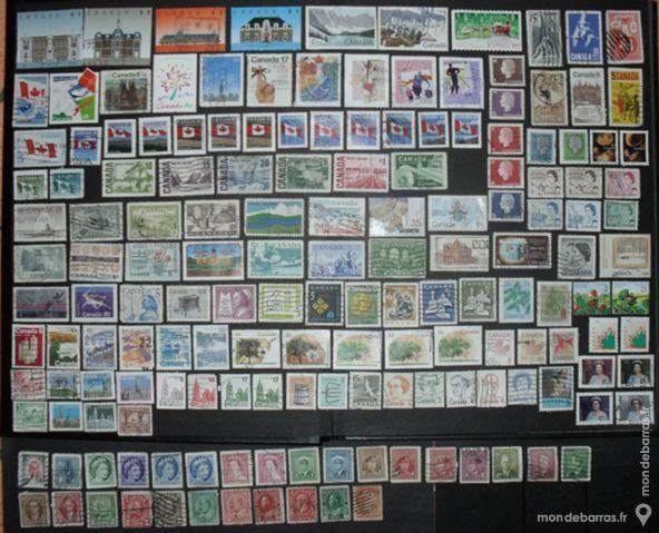 Lot de 162 timbres oblitérés du CANADA 16 Montreuil (93)