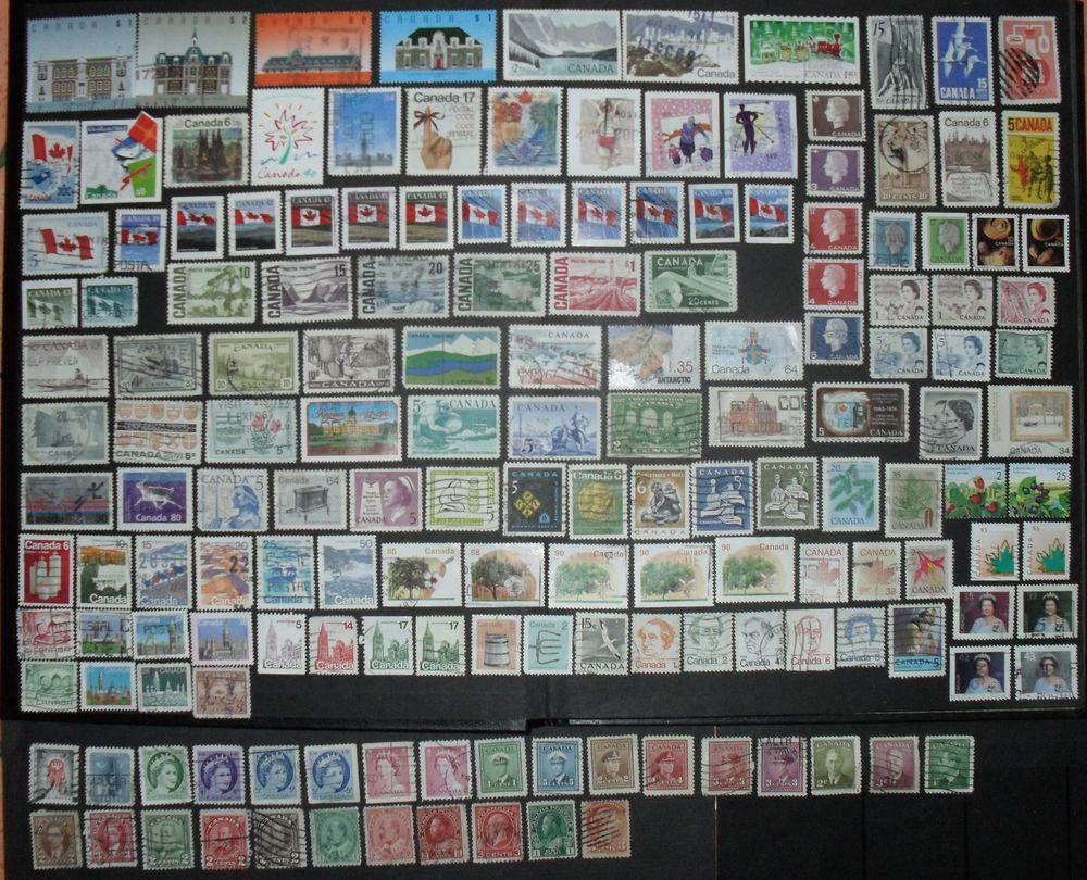 Lot de 162  timbres oblitérés du CANADA. 22 Montreuil (93)