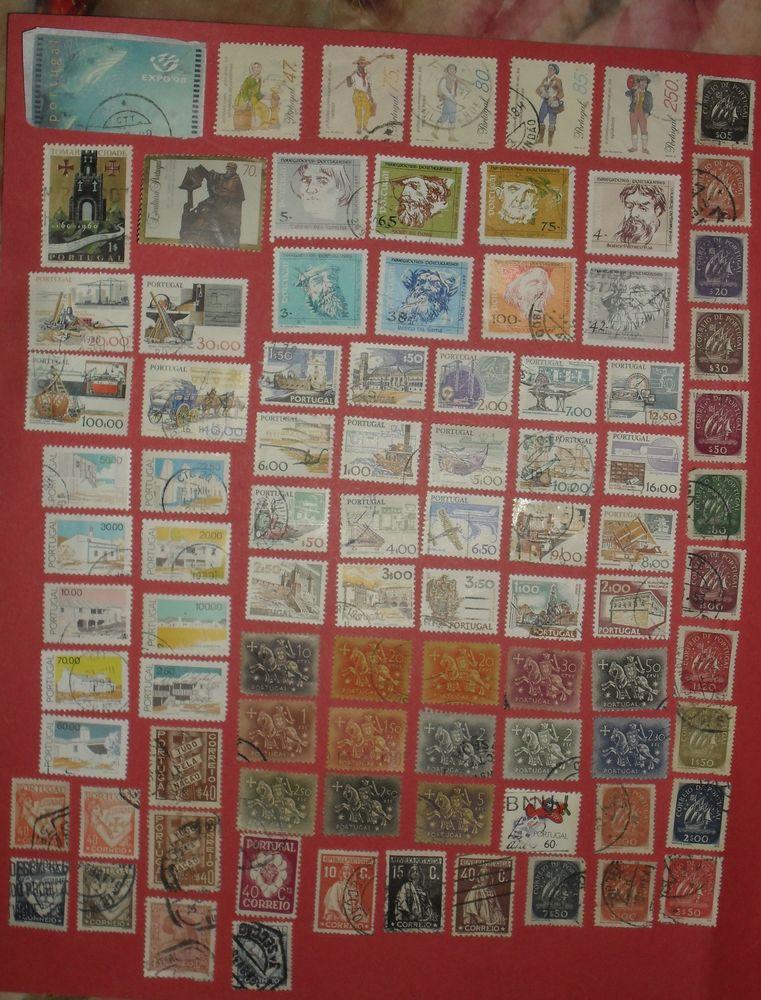 Lot de 89 timbres oblitérés du PORTUGAL. 12 Montreuil (93)