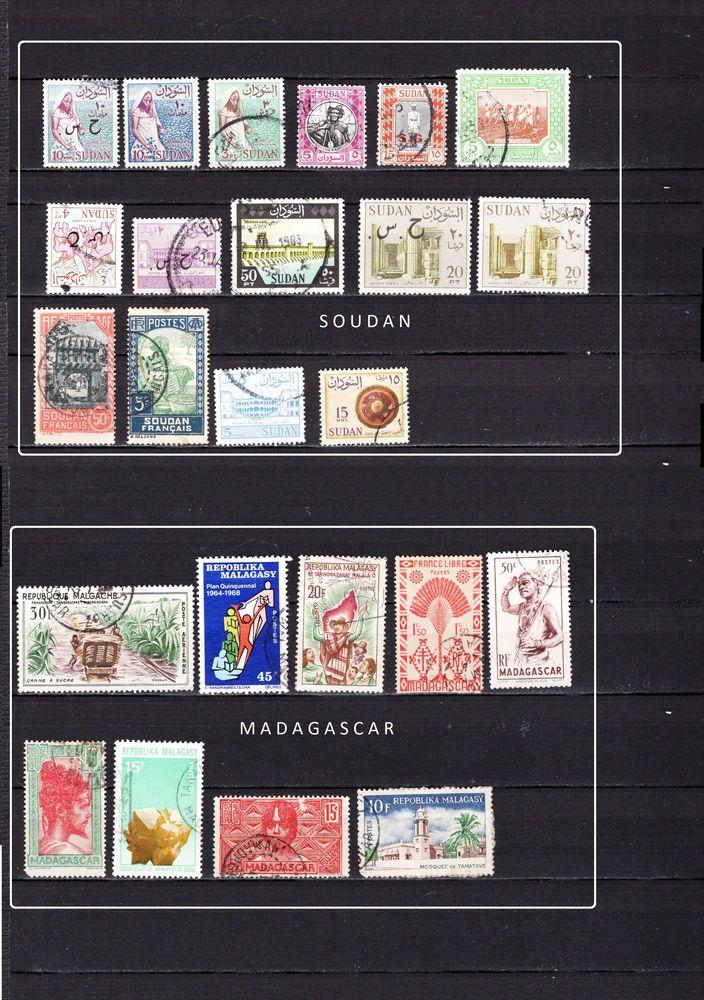 154 timbres de PAYS d'AFRIQUE 8 Les Églisottes-et-Chalaures (33)