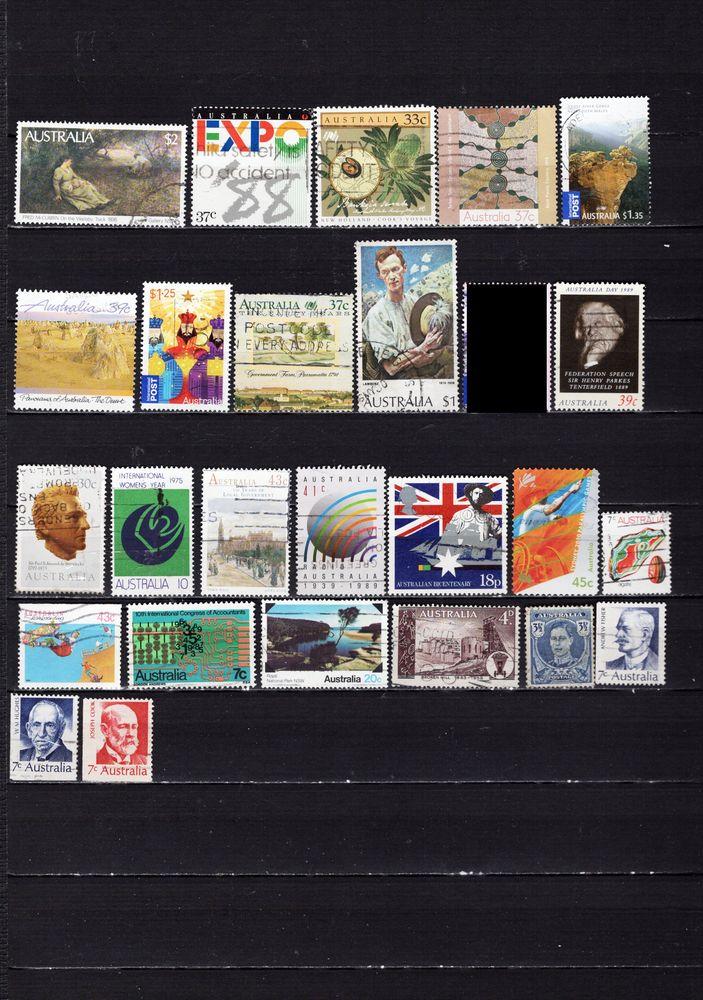lot de 34 timbres de PAYS d'OCEANIE