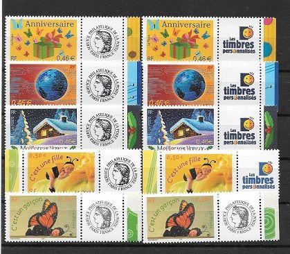 lot de 10 timbres personnalisés neufs 7 Maubeuge (59)