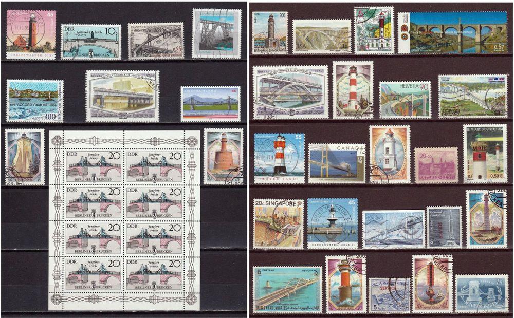 Lot timbres Phares et Ponts 8 Berre-l'Étang (13)