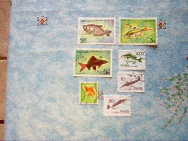 LOT TIMBRES POISSONS 0 Boué (02)