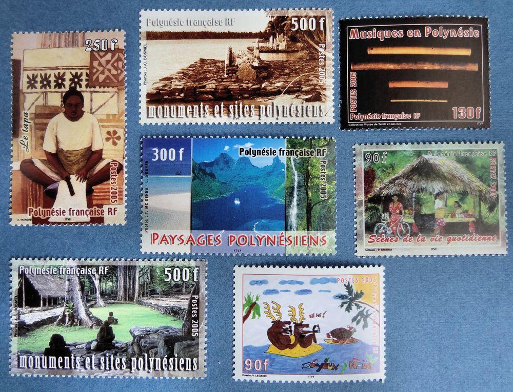 Lot de 23 timbres** de Polynésie 2005 12 Chaumontel (95)