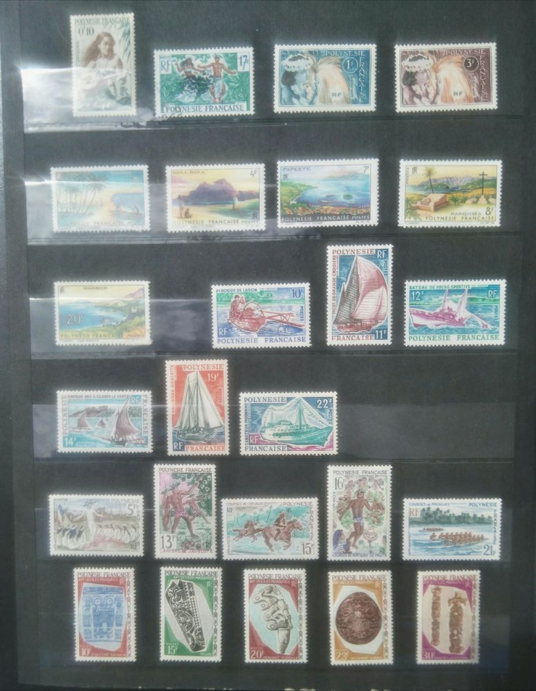 Timbres Polynésie 44 neufs de 1964/70 200 Dax (40)