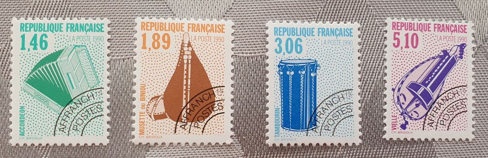 Timbres Préos 206 à 209 neufs u à 75% faciale 1 Joué-lès-Tours (37)