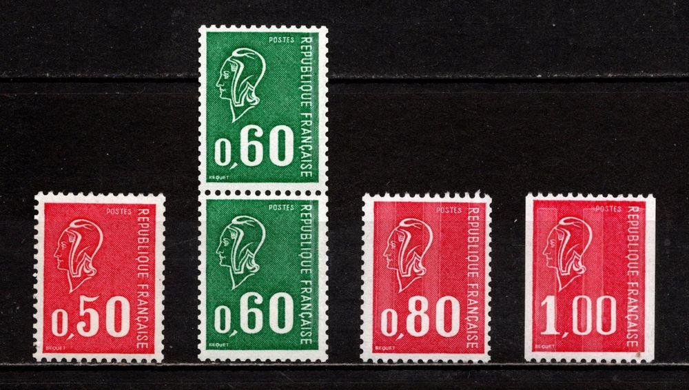 Timbres de roulettes Bequet** n° rouge au verso, superbes.