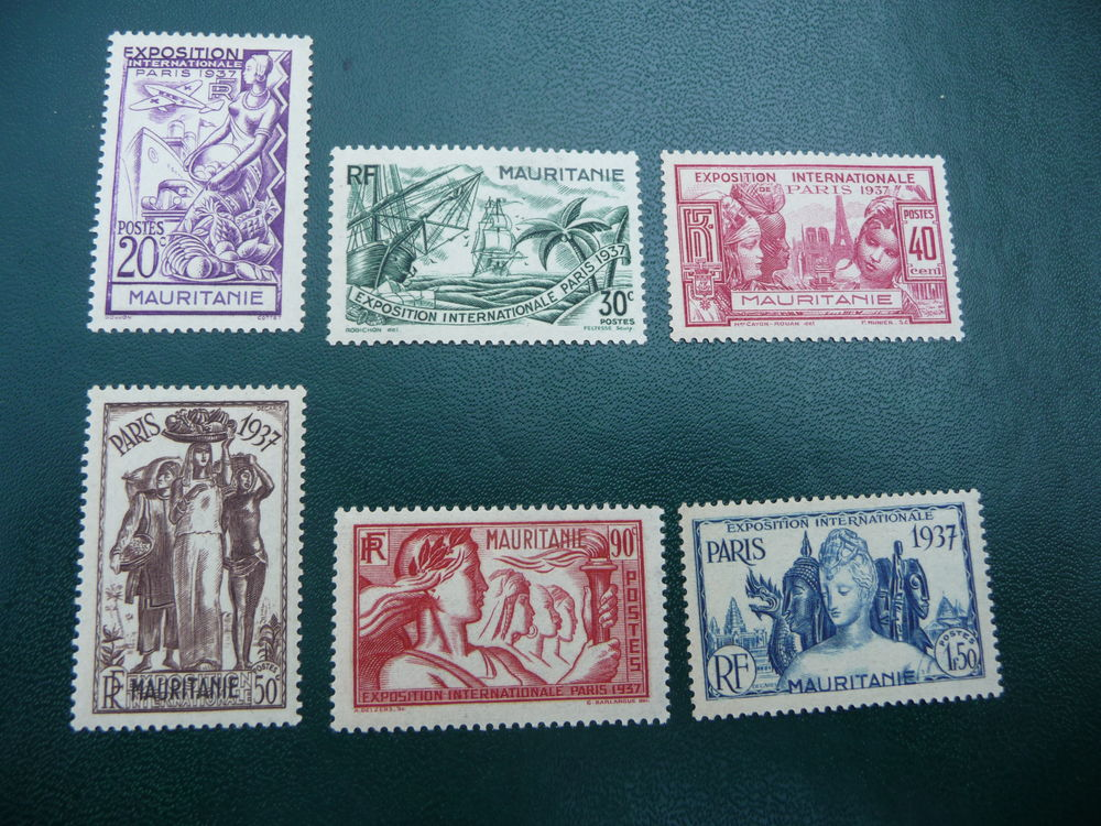 timbres serie coloniale mauritanie neufs 3 Fabrègues (34)
