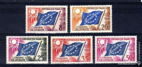 Timbres de service France N° 17 à 21 NEUFS** 1 La Seyne-sur-Mer (83)