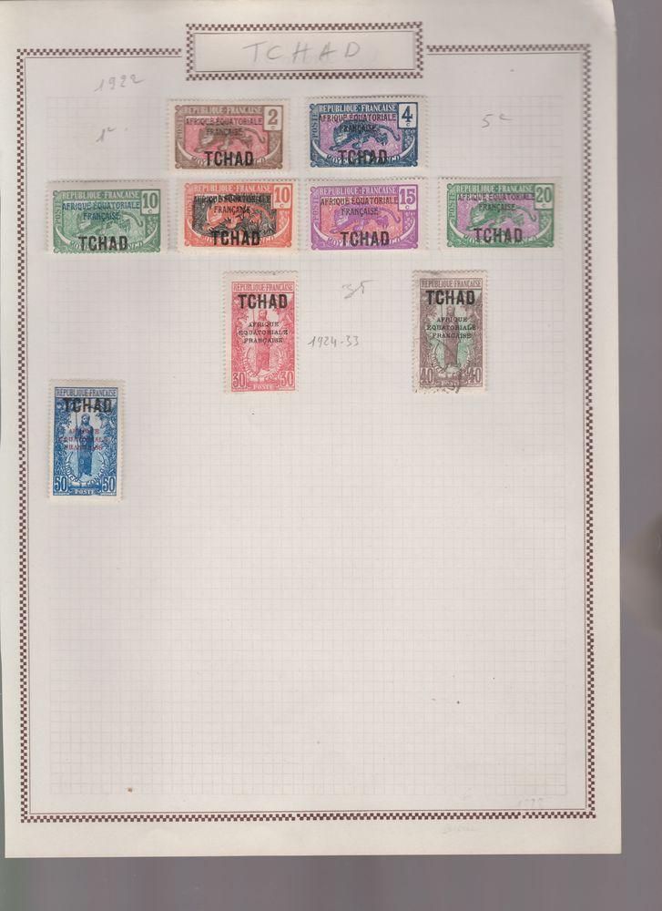 Un lot de 9 timbres TCHAD Afrique équatoriale française. ? 950 Paris 20 (75)