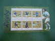 timbres  thème  bloc  feuillet  rugby  neuf**