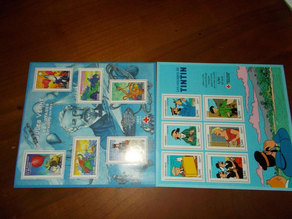 timbres Tintin et Jules Vernes   16 Chissey-en-Morvan (71)