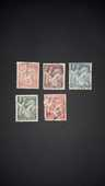 Lot de 5 timbres type Iris  0 Auterive (31)