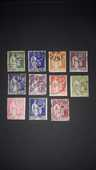 Lot de 11 timbres type Paix  0 Auterive (31)