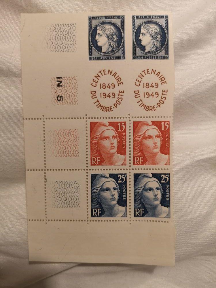 timbres yvert 830 à 833 double bande complète  8 Saint-Dionizy (30)