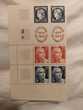 timbres yvert 830 à 833 double bande complète