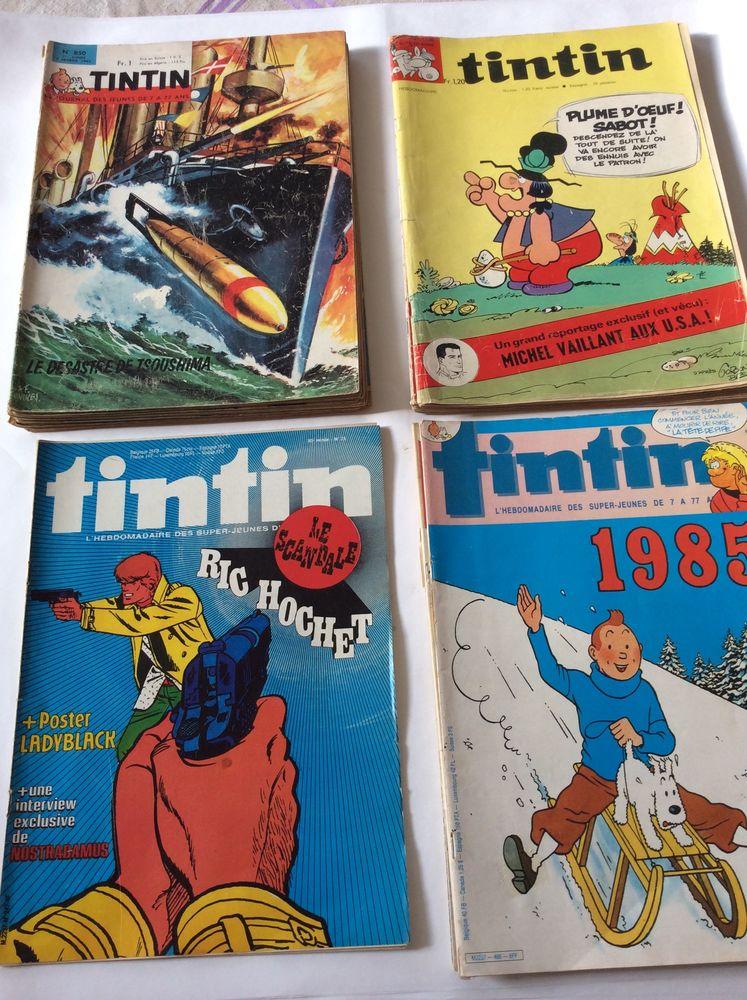 Tintin hebdomadaire 18 nos 1965/70/80/85 bon état 35 Gif-sur-Yvette (91)