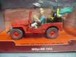Tintin au Pays de l'Or Noir Jeep dans boite rigide