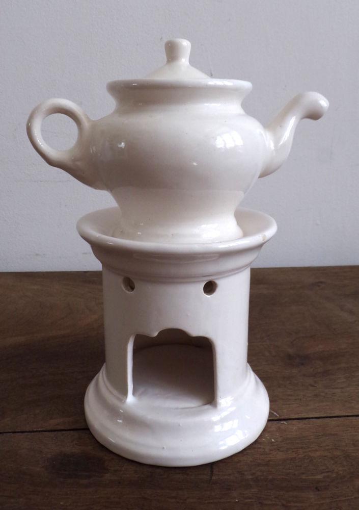 Tisanière et veilleuse en céramique blanche 8 Laval (53)