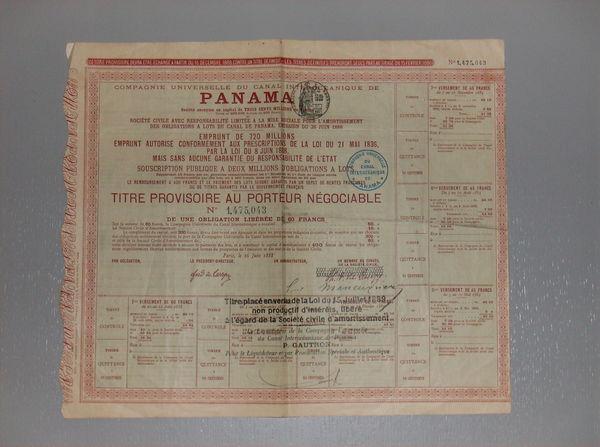 TITRE PROVISOIRE PANAMA 25 Saint-Michel-d'Euzet (30)