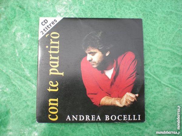 CD 2 titres Andrea Bocelli     Con te partiro  2 Saleilles (66)