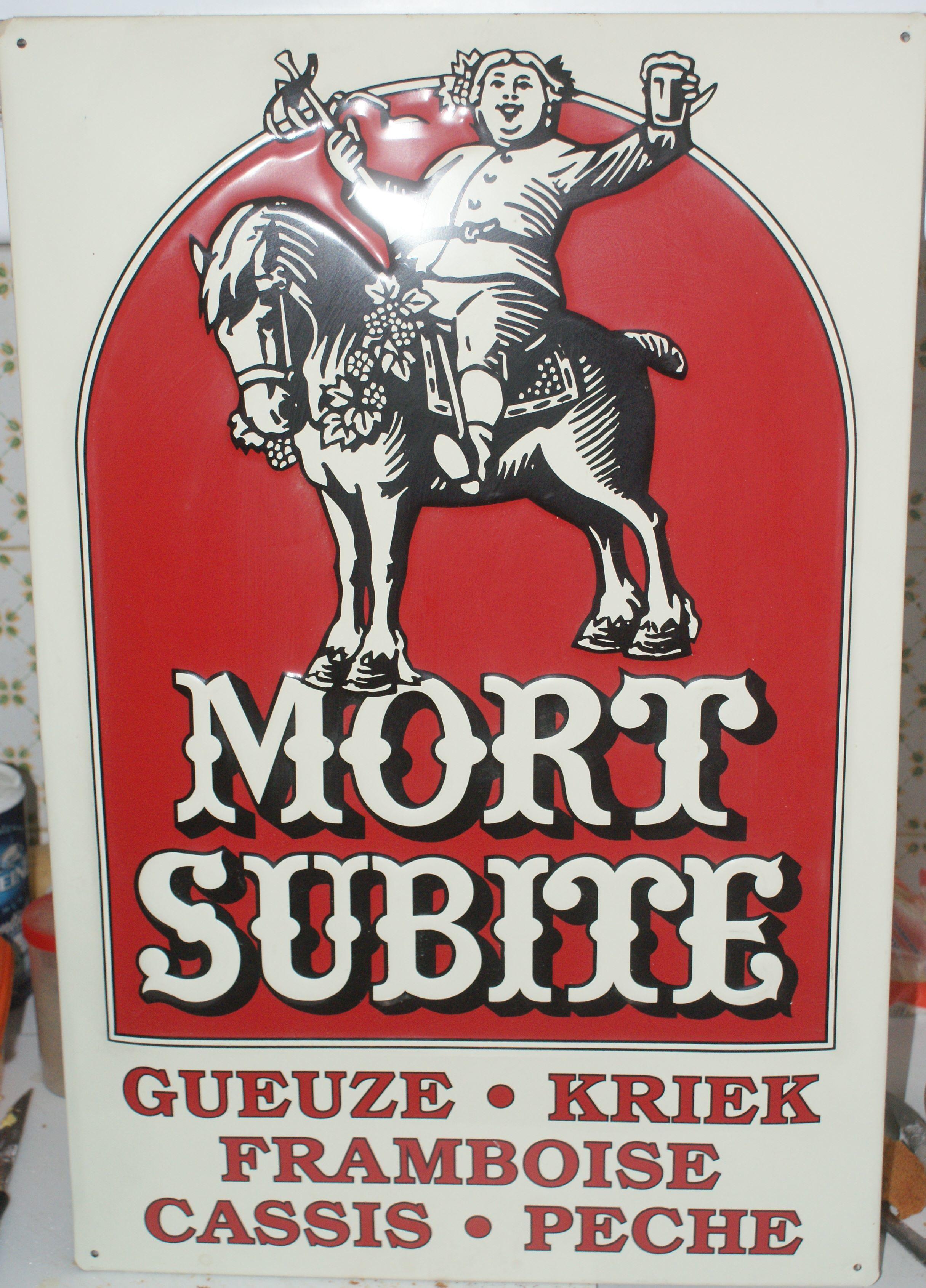 tôle MORT SUBITE bière 60 Montcy-Notre-Dame (08)