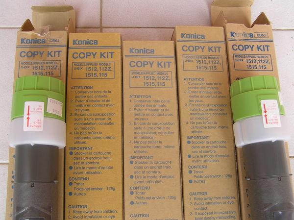5 toners Konica Copy Kit UBX1512, 112Z, 1515, 115 0 Labège (31)