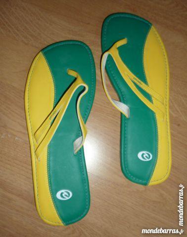 tongs RIP CURL NEUVES T 39 jaune / vert bresil 10 Bonnelles (78)