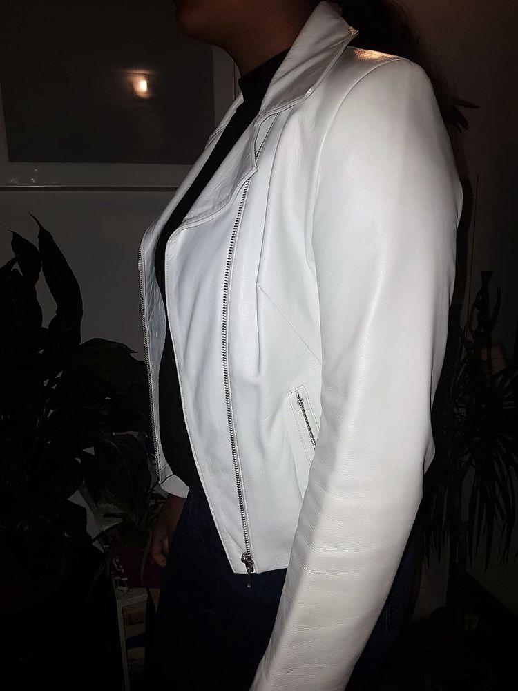 Tony Enzo blouson en cuir blanc Taille 38 30 Neuilly-sur-Marne (93)