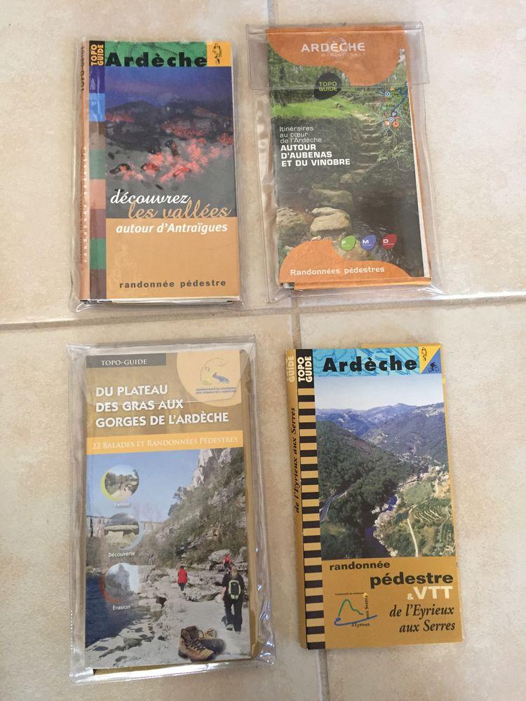 5 topos guides de randonnées en Ardèche 5 Nîmes (30)