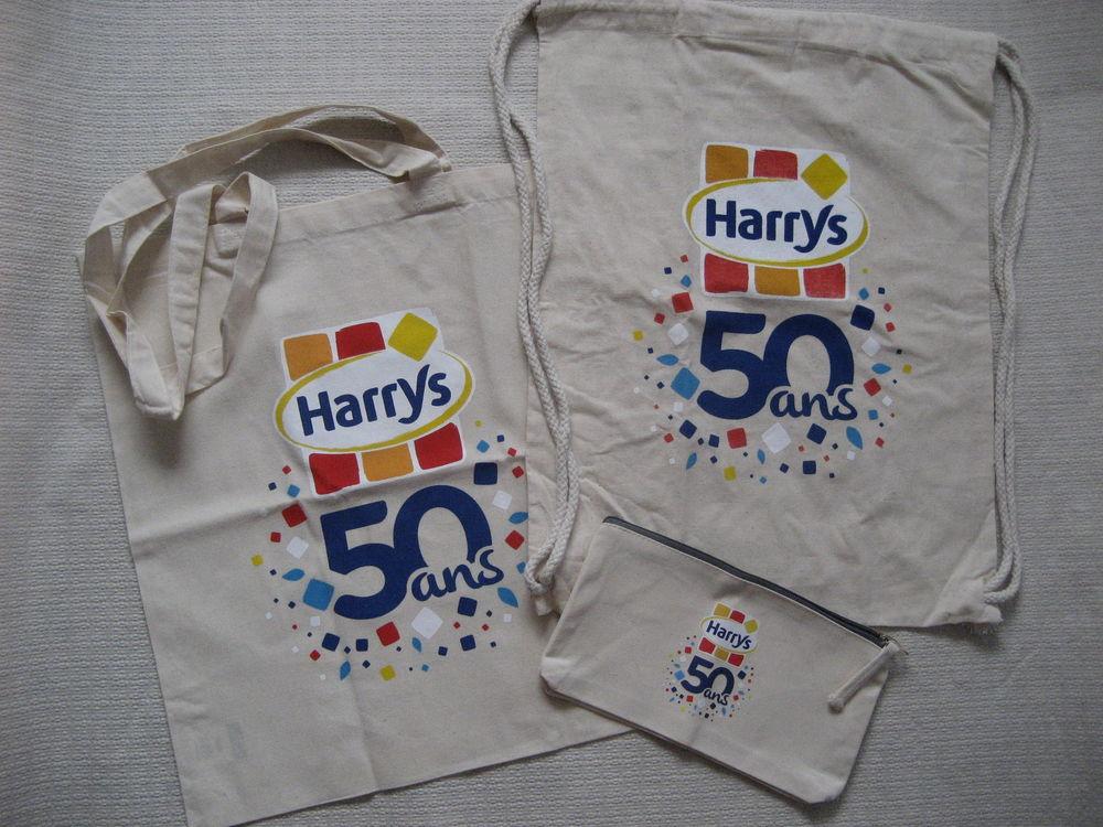 tote bag + sac sport ficelle + trousse coton HARRYS 9 Reims (51)