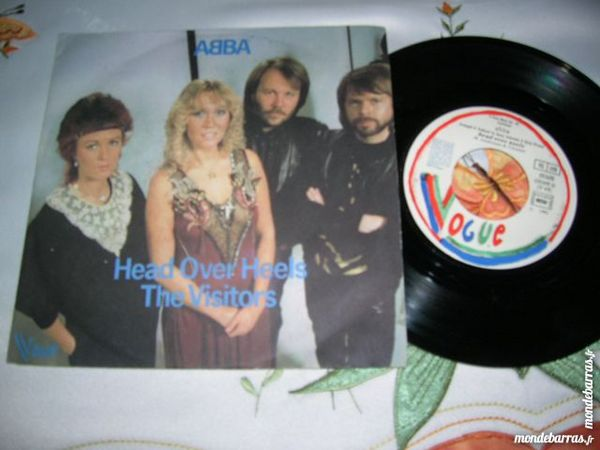 45 TOURS ABBA Head over heels/The visitors 7 Nantes (44)