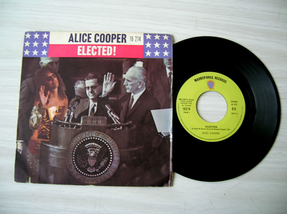 45 Tours ALICE COOPER Elected 21 Nantes (44)