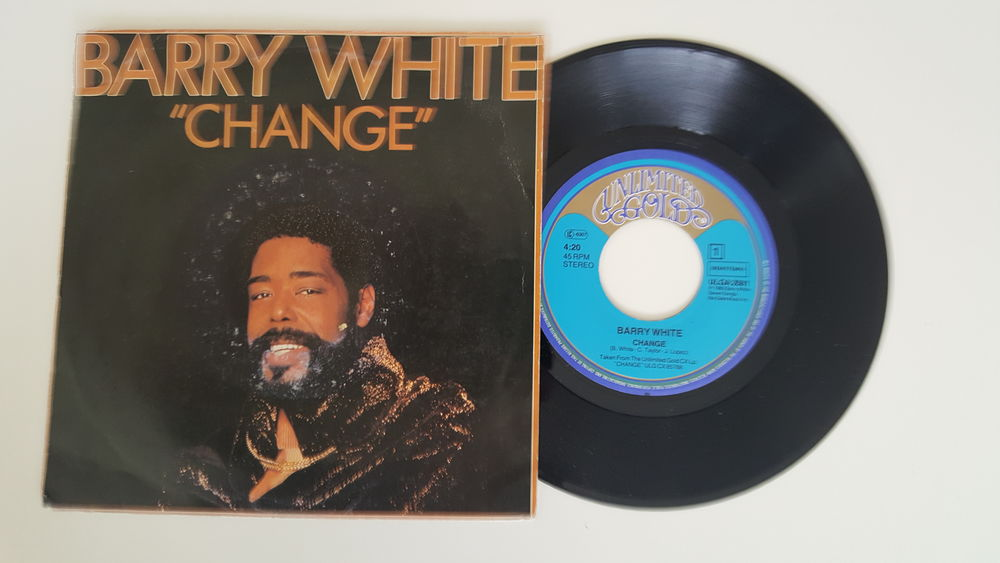 45 Tours BARRY WHITE Change 12 Sautron (44)