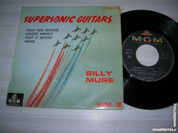 45 TOURS EP BILLY MURE SUPERSONIC GUITARS High tid 27 Nantes (44)