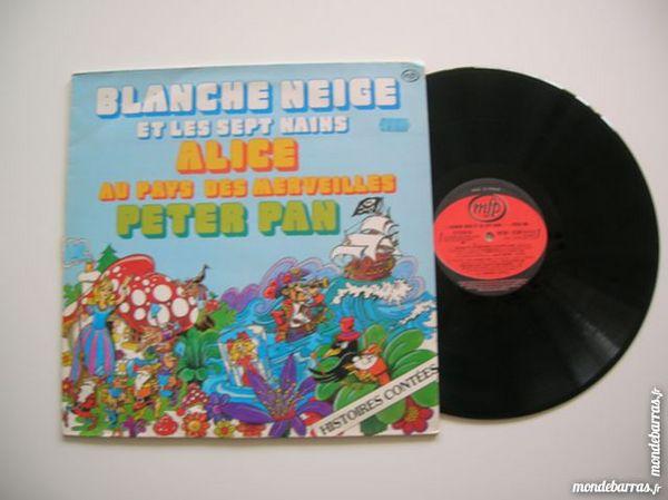 33 TOURS BLANCHE NEIGE/PETER PAN Histoires contées CD et vinyles