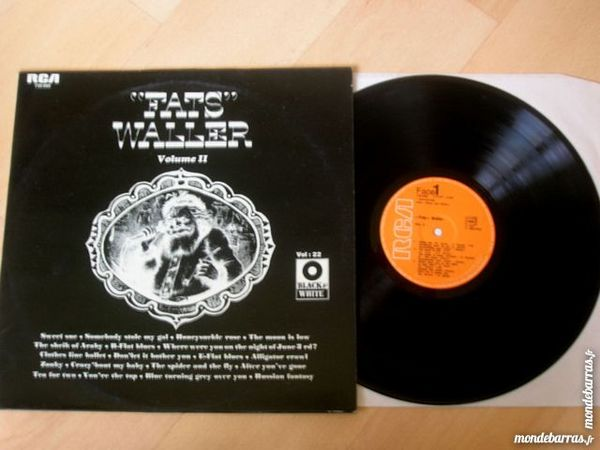 33 TOURS FATS WALLER Vol 2 CD et vinyles