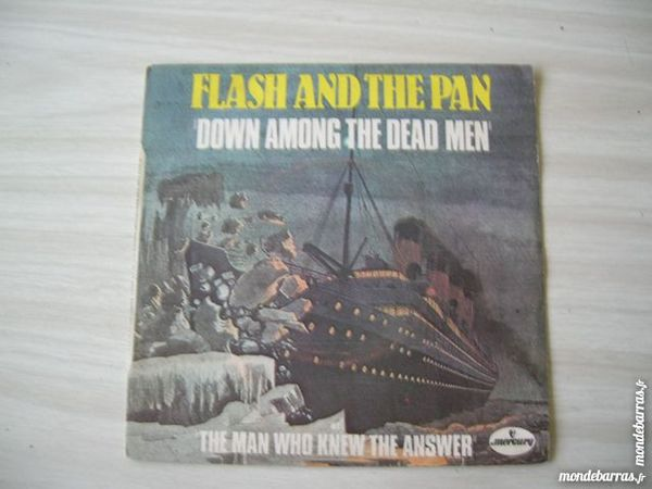 45 TOURS FLASH AND THE PAN Down among the dead CD et vinyles