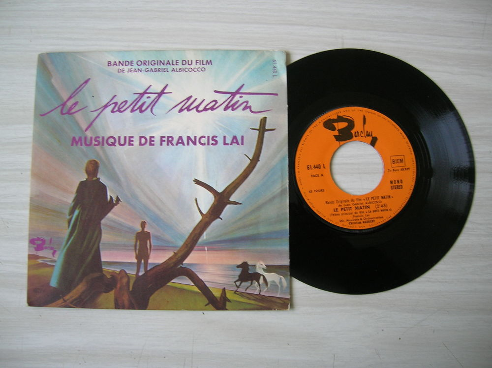 45 TOURS FRANCIS LAI Le Petit Matin - Musique du film 7 Nantes (44)