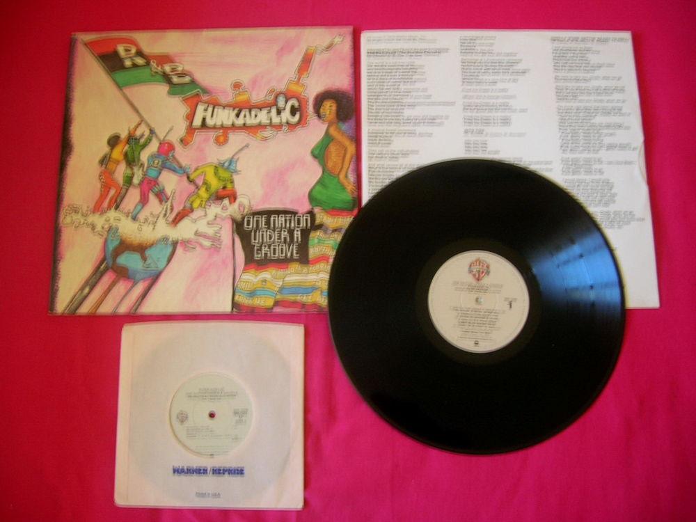 33 TOURS FUNKADELIC One Nation Under the Groove -Original US CD et vinyles