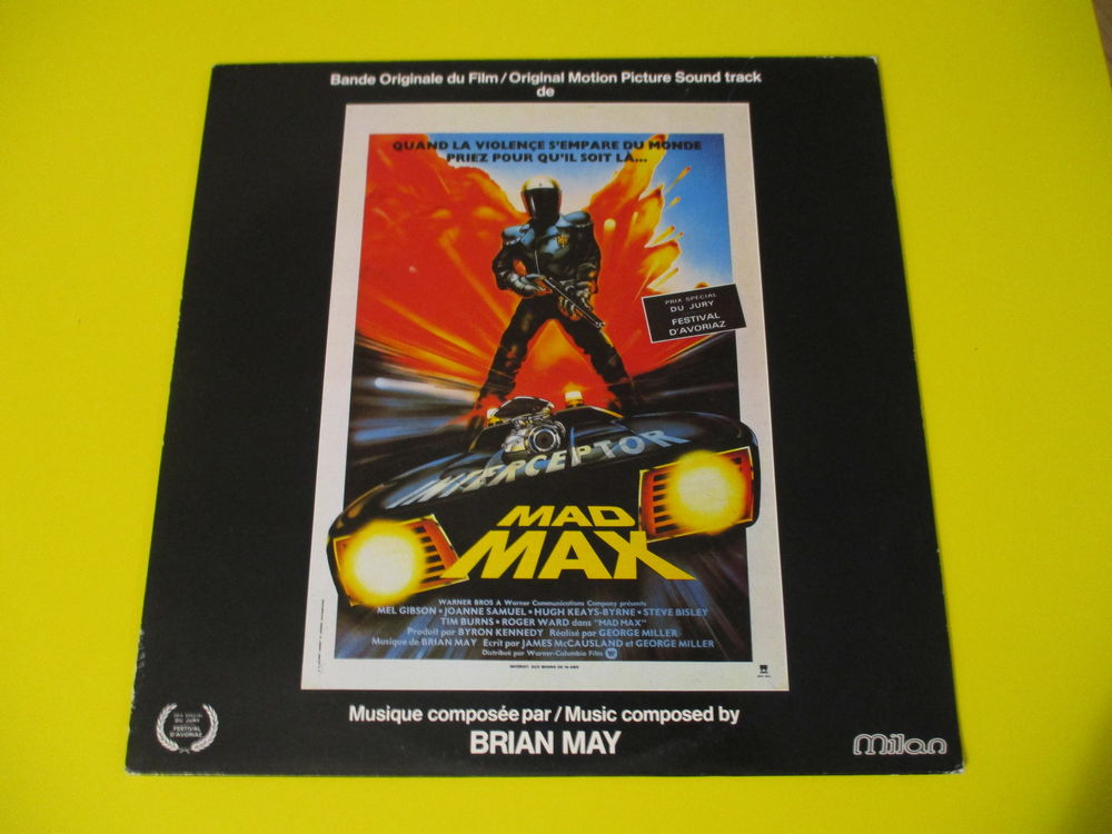 MAD MAX BOF 33 TOURS MEL GIBSON BRIAN MAY TBE 26 Lognes (77)