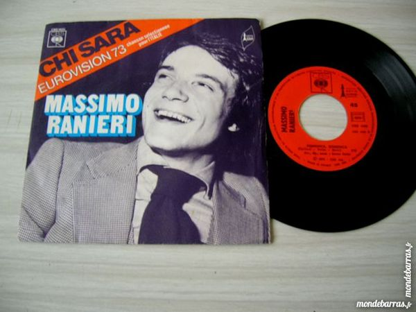 45 Tours MASSIMO RANIERI EUROVISION 1973 ITALIE CD et vinyles
