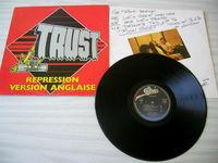 33 TOURS TRUST Répression - Version anglaise - ORIGINAL CD et vinyles