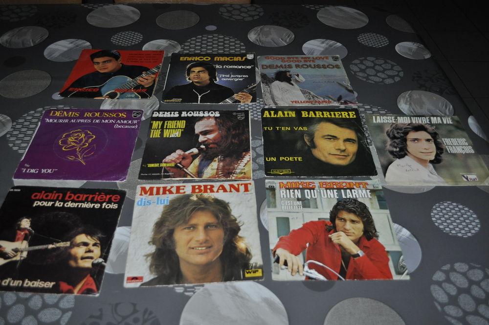 Lot de 45 tours vinyles avec entre autre  Mike Brant  10 Perreuil (71)